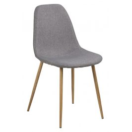SCANDI Světle šedá látková jídelní židle Wanda