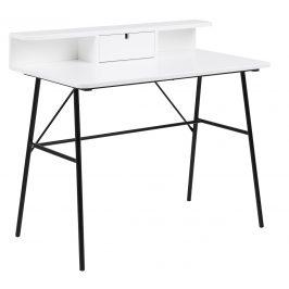 SCANDI Bílý pracovní stůl Calina 100 cm