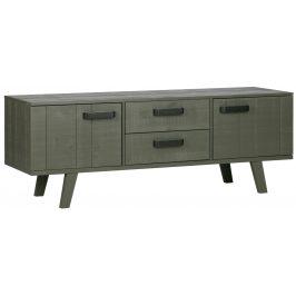 Hoorns Zelený borovicový TV stolek Bullet 150 x 44 cm Stolky pod TV