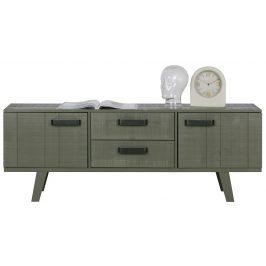 Hoorns Zelený borovicový TV stolek Bullet 150 x 44 cm