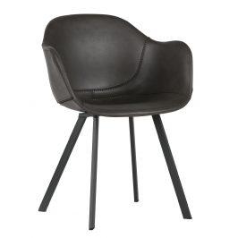 Hoorns Tmavě šedá jídelní židle Crema