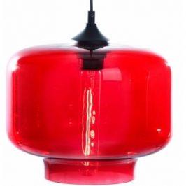 Nordic Design Závěsné světlo Todus sun 25 cm, červená
