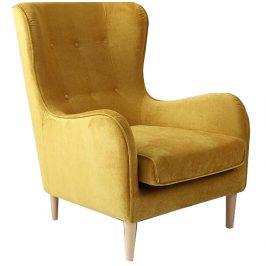 Nordic Design Žluté čalouněné křeslo Alta