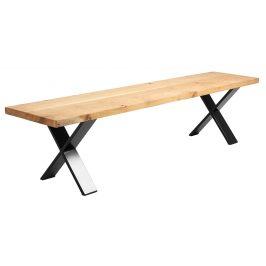 Nordic Design Přírodní masivní dubová lavice Combo 200 cm