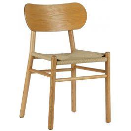 Hoorns Přírodní dřevěná jídelní židle Rodin