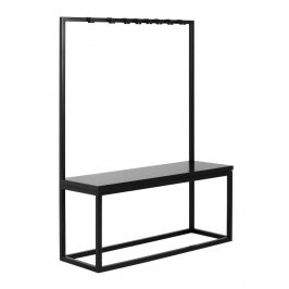 Nordic Design Černý věšák s lavicí Nek 120 cm