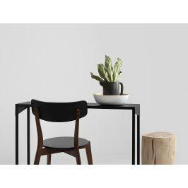 Nordic Design Černý kovový toaletní stolek Narvik 100x35 cm