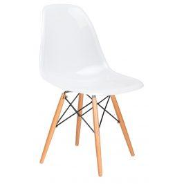 Culty Gold Bílá lesklá plastová židle DSW