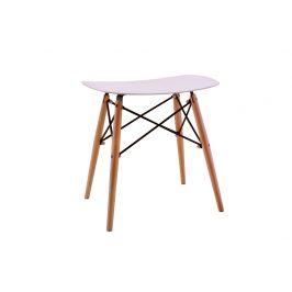 Culty Gold Bílá plastová stolička DSW