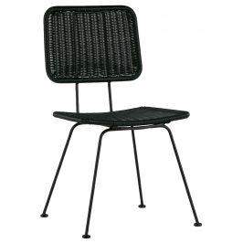Hoorns Černá vyplétaná jídelní židle Ermori