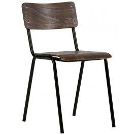 Hoorns Hnědá dřevěná židle Tharin