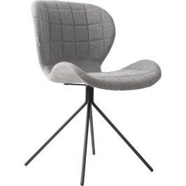 Světle šedá čalouněná jídelní židle ZUIVER OMG