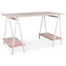 Culty Bukový pracovní stůl Nestor 138 cm s bílou podnoží
