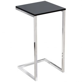 Moebel Living Černý kovový odkládací stolek Ramos 30x30 cm