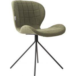 Zelená čalouněná jídelní židle ZUIVER OMG