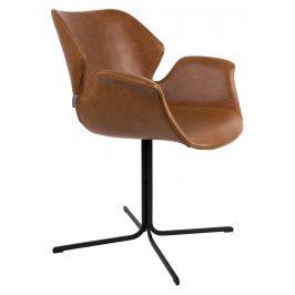 Vintage hnědá jídelní židle ZUIVER NIKKI