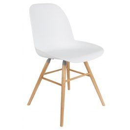 Bílá jídelní židle ZUIVER ALBERT KUIP