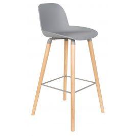 Světle šedá barová židle ZUIVER ALBERT KUIP 75 cm