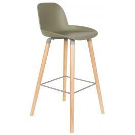 Zelená barová židle ZUIVER ALBERT KUIP 75 cm