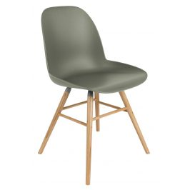 Zelená jídelní židle ZUIVER ALBERT KUIP