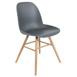 Tmavě šedá jídelní židle ZUIVER ALBERT KUIP