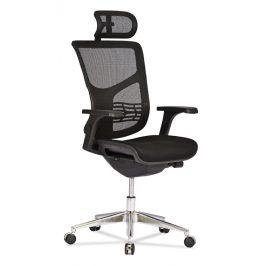 OfficeLab Černá látková kancelářská židle Valen