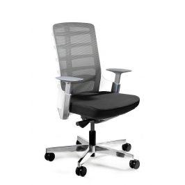 OfficeLab Bílá látková kancelářská židle Spin S
