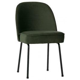 Hoorns Zelená sametová židle Tergi