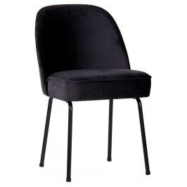 Hoorns Tmavě modrá sametová židle Tergi