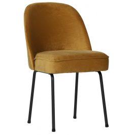 Hoorns Žlutá sametová židle Tergi