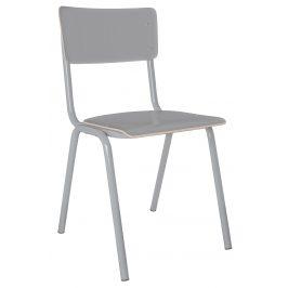Šedá jídelní židle ZUIVER BACK TO SCHOOL