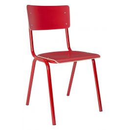 Červená jídelní židle ZUIVER BACK TO SCHOOL