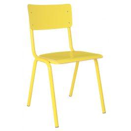 Žlutá jídelní židle ZUIVER BACK TO SCHOOL