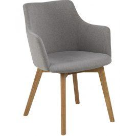 SCANDI Světle šedá čalouněná jídelní židle Dara