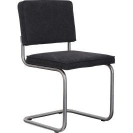 Tmavě šedá čalouněná židle ZUIVER RIDGE VINTAGE s matným rámem