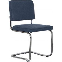 Modrá vintage jídelní židle ZUIVER RIDGE KINK