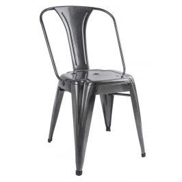 Time for home Černá kovová jídelní židle Atago