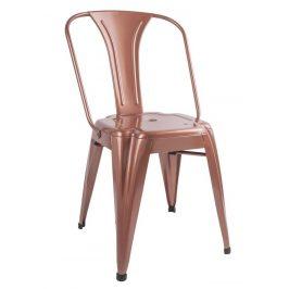 Time for home Měděná kovová jídelní židle Atago