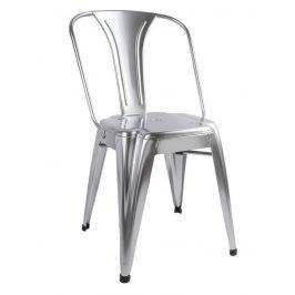 Time for home Stříbrná kovová jídelní židle Atago