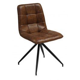SCANDI Hnědá čalouněná vintage židle Moneta