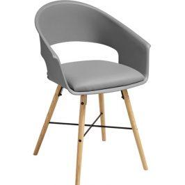 SCANDI Šedá čalouněná jídelní židle Bradley