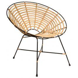 Ratanová přírodní židle DUTCHBONE Kubu Round