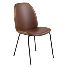 SCANDI Hnědá jídelní židle Marge z ekokůže