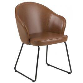 SCANDI Hnědá čalouněná jídelní židle Adriana