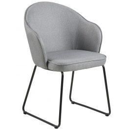 SCANDI Šedá látková jídelní židle Adriana