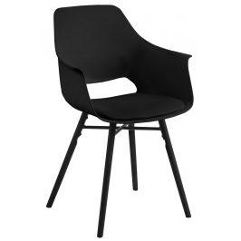 SCANDI Černá jídelní židle Gamora s černou podnoží
