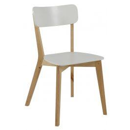 SCANDI Bílá jídelní židle Corby