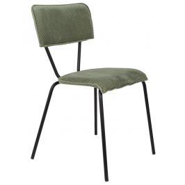 Zelená sametová jídelní židle DUTCHBONE Melonie