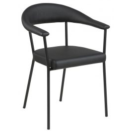 SCANDI Černá čalouněná jídelní židle Gordon