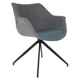 Modrá čalouněná jídelní židle ZUIVER DOULTON